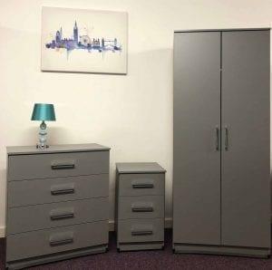 Dusk Grey Bedroom Set